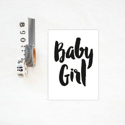 Kaart baby GIRL +enveloppe.
