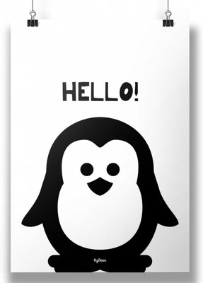 Poster | Pinguin Hello | zwar/twit