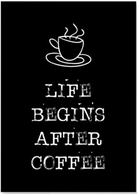 Kaart |  Life begins after coffee