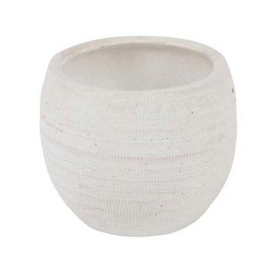 Bloempot| wit | aardewerk L