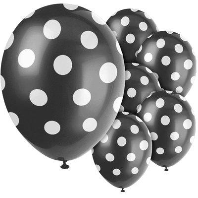 Ballonnen | Dots | Zwart-Wit