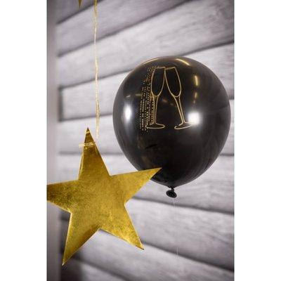 Ballonnen champagne zwart
