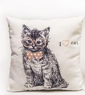 Kussen | I Love Cat | 45x45