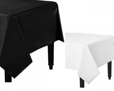 Tafelkleed Wit of Zwart plastic