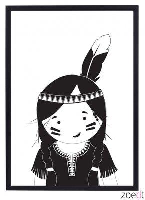 Poster | Indianen meisje
