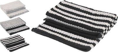 Vloerkleed |Zwart-Wit 90x60
