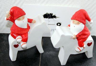Kerstman op Paard set 2 stuks | J LINE