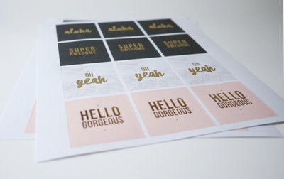 STICKERS | HELLO GORGEOUS