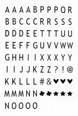 80 letters & symbolen voor de Lightbox