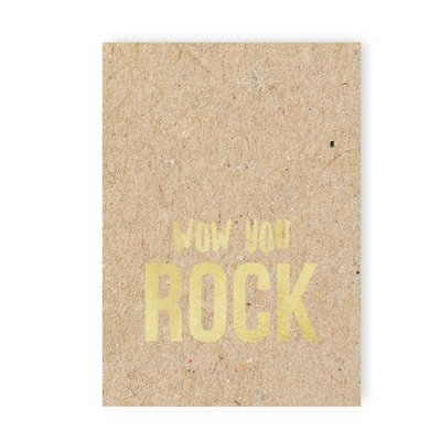 Kaart | WoW you Rock +enveloppe.