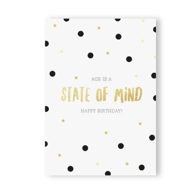 Kaart | Happy Birthday/mind +enveloppe.