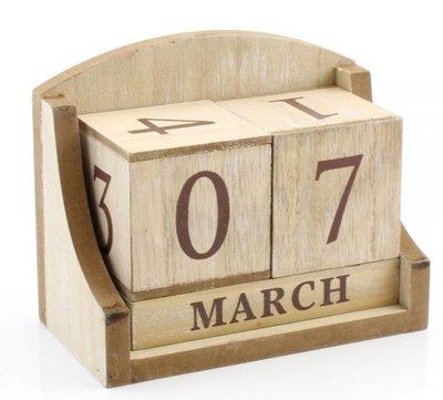 Kalender | Eeuwig durende| Naturel