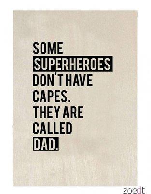 Houten Kaart | Superheroes