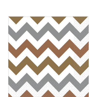 Servetten | chevron | 33 cm Metallic