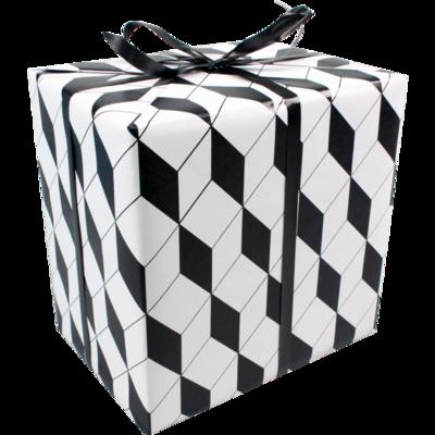 Inpakpapier   cadeaupapier zwart wit