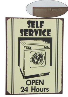 Tekstbord | Selfservice, wasmachine.