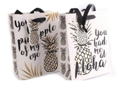 PINEAPPLE GIFT BAG, MEDIUM