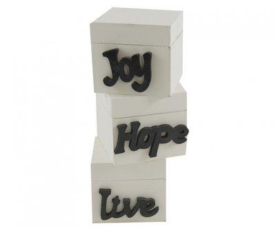 Opbergboxen set3Live - Hope - Joy