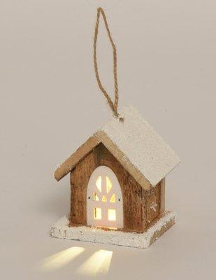 Kerst | Huisje | LED 10 cm
