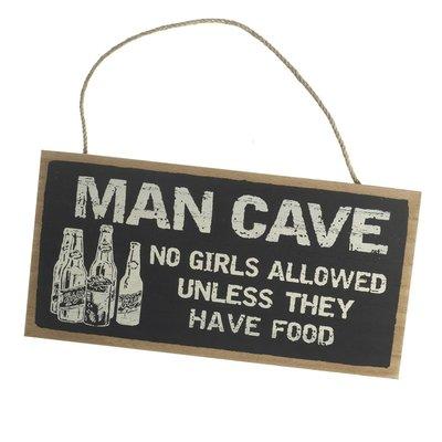 Tekstbord | Mancave...No Girls