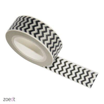 Masking Tape | zwarte zigzag