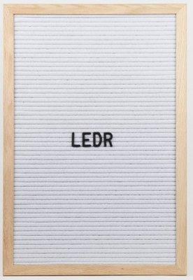 Letterbord | Wit L
