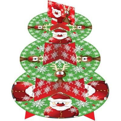 Etagere 3-laags | Kerst | Karton | 30 cm