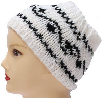 Hoofd/Haarband wit zwart S