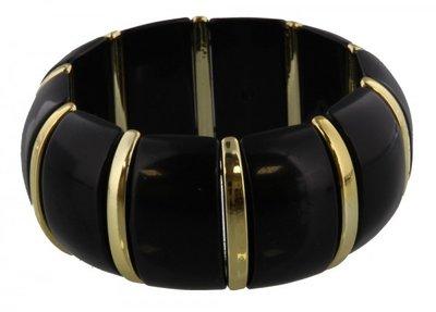 Armband  | Zwart/goud