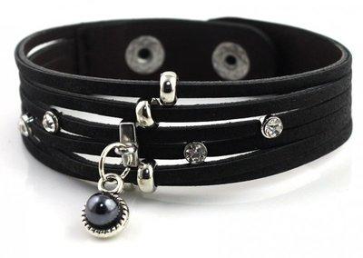 Armband  | Leder Zwart