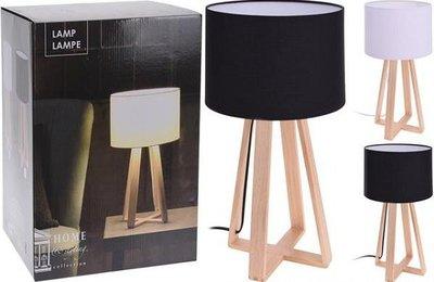 Tafellamp | houten voet