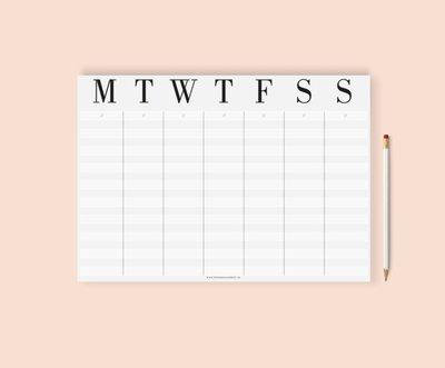 Weekplanner  |  B & B