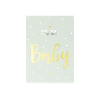 Kaart Baby BOY+enveloppe.