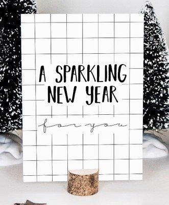 Kaart | Nieuwjaar |A Sparkling New Year