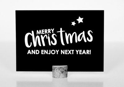 Kerstkaart |Merry Christmas and Enjoy next Year!