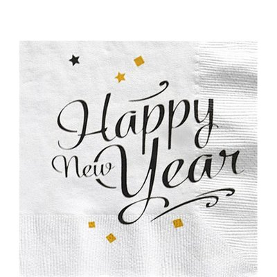 Servetten| HAPPY NEW YEAR 33 cm.