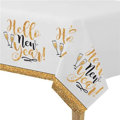 "Tafelkleed ""HAPPY NEW YEAR"" Gold"