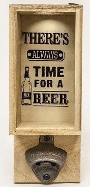 Flesopener wand |'Always time for a beer'