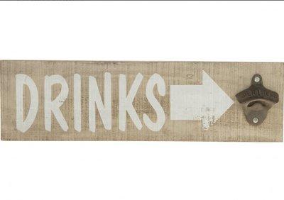 Flesopener wand |'Drinks'