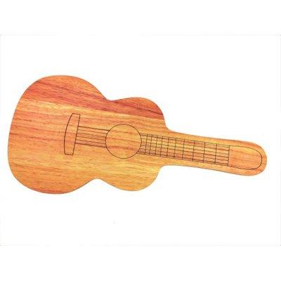 Serveerschaal gitaar van hout