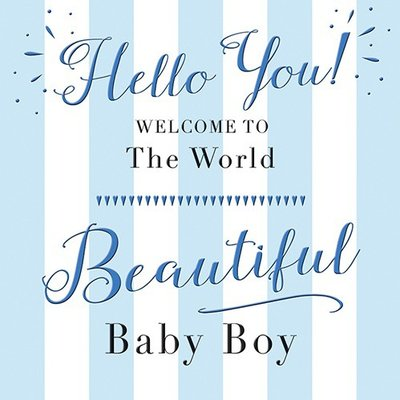 "Kaart Baby BOY  ""Hello You!"""