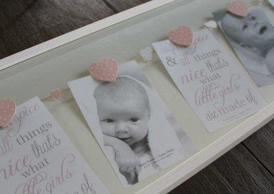 Lijst van hout met knijpertjes voor Babyfoto's | XL