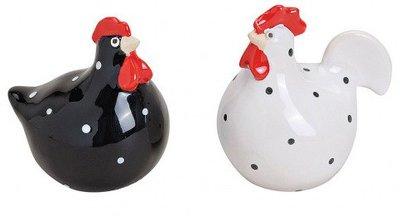 Kippen zwart wit