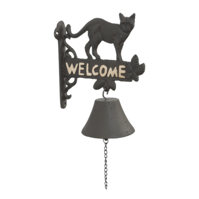 Deurbel welcome met Kat