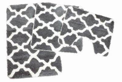 Badmat | WC mat Alhambra Grijs/Wit