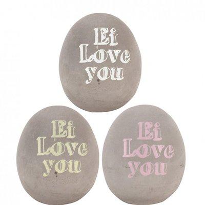 """""""Ei love you"""" 12 cm beton Ei"""
