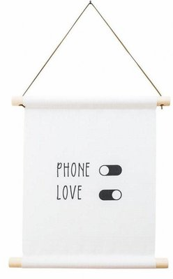 Textielposter |'Phone off Love on...'