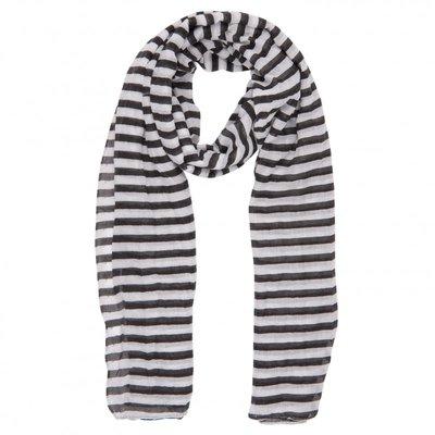 Sjaal | strepen  zwart wit