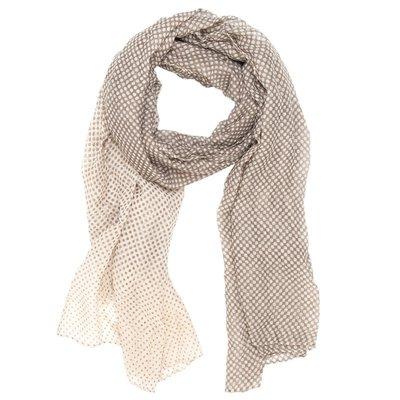 Sjaal |Stippen Beige