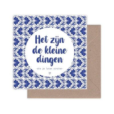 Kaart Hollands| Het zijn de kleine dingen........